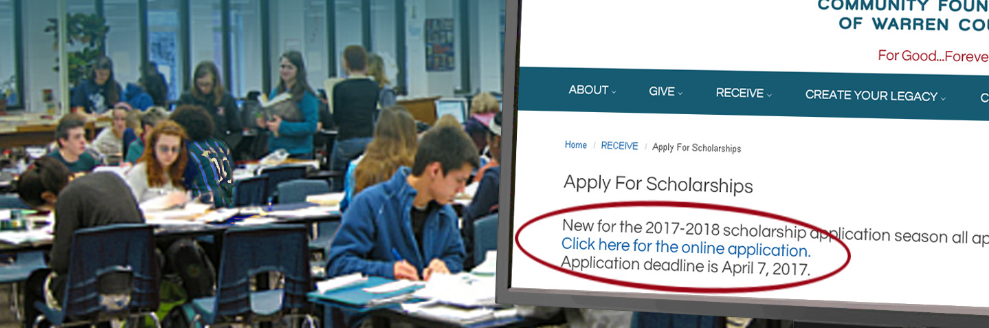 APPLY NOW ~ Our New Online Scholarship Application Makes It Easy!